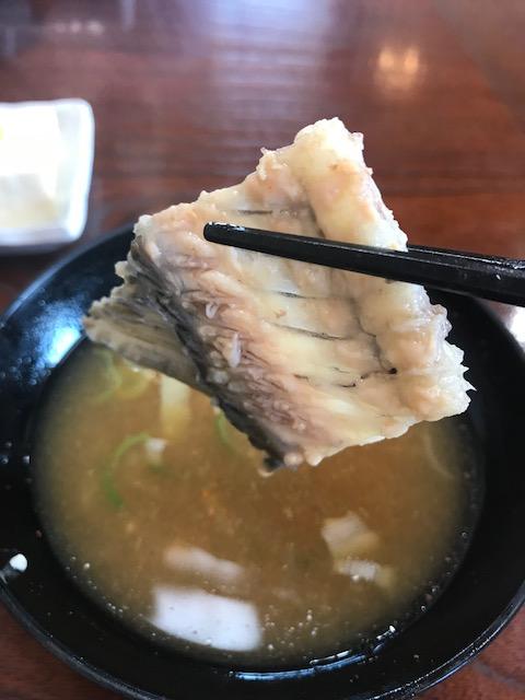 橋本食堂,鯉のあら汁,味噌汁
