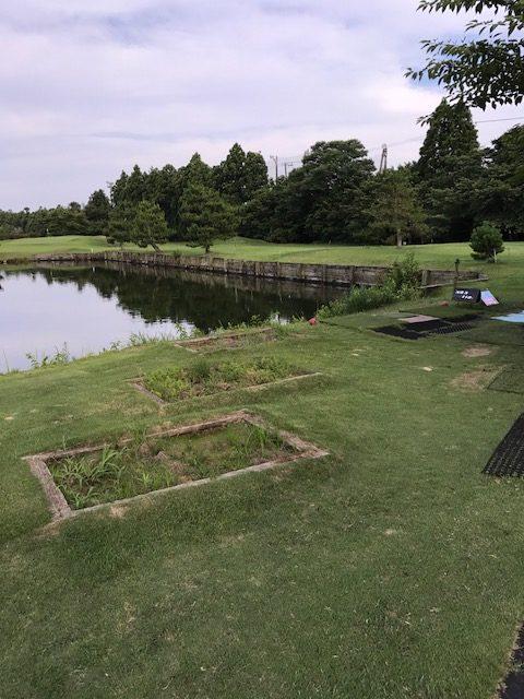 ダイナミックゴルフ茂原3H池越え
