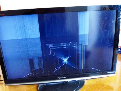 割れた液晶テレビ 不用品回収