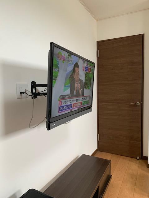 テレビ壁掛け 可動域